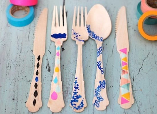 washi tape utensils