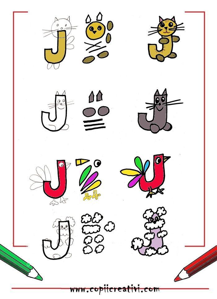 Litera J trasformata in desen