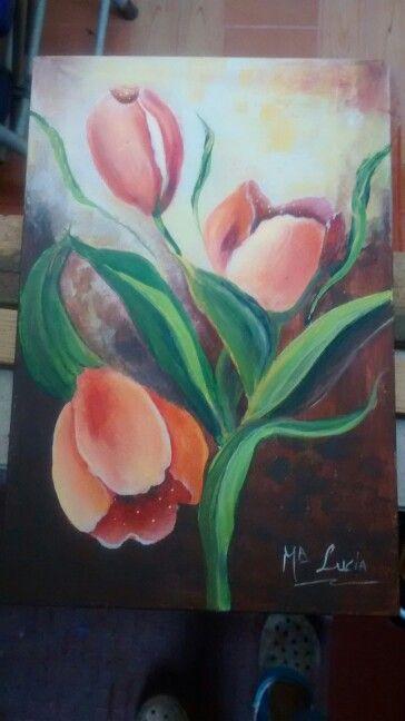 Tulipanes acrilico