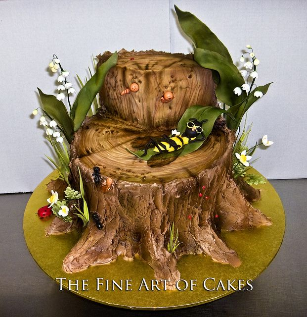 Tree Stump Cake                                                                                                                                                                                 More