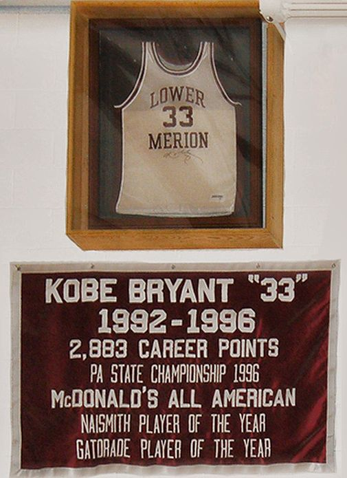 Kobe Bryant - Lower Merion High School grad