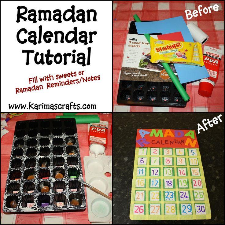 Karima's Crafts: Ramadan Calendar Tutorial