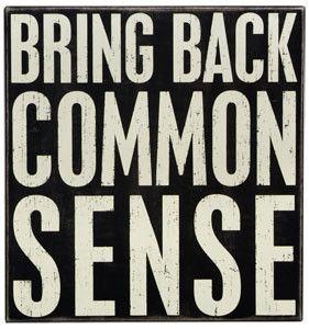 Bring Back Common Sense (please!)   Shop Lucketts