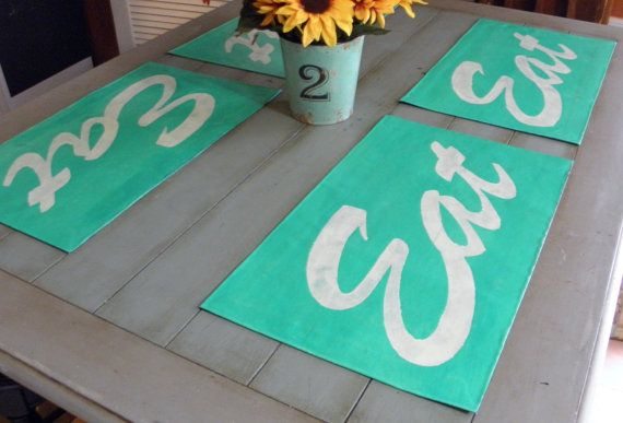 Hey, I found this really awesome Etsy listing at https://www.etsy.com/listing/194900020/retro-kitchen-placemats-hand-painted-on