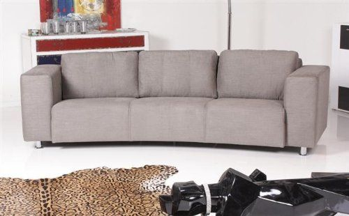 Machalke Sofa Bad Boy – 3,5 Sitzer in Stoff – Arima grau