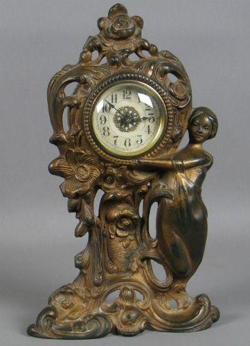 c.1900 Art Nouveau figural clock
