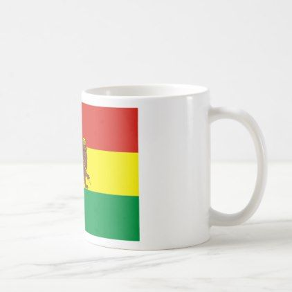 #Old Ethiopian Flag with Lion of Judah Coffee Mug - #office #gifts #giftideas #business