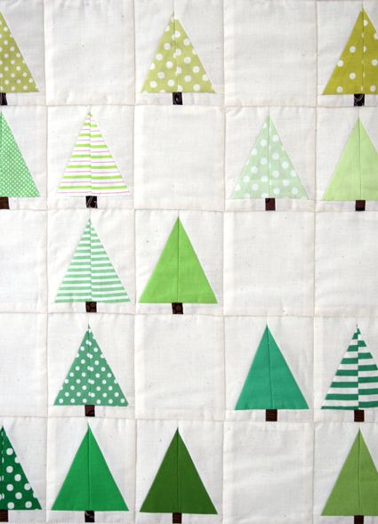 Lovely Design's Lovely Little Forest Quilt - The Purl Bee - Knitting Crochet Sewing Embroidery Crafts Patterns and Ideas!