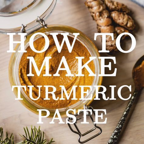 Learn how to make Turmeric Paste to fully take advantage the healing benefits of turmeric's healing properties.  Whether you use it in turmeric golden milk, curries or smoothies, this homemade golden paste recipe is much better than its store bought versions.  #turmericpaste #turmeric #turmericmilkpaste #goldenpaste #goldenmilkpaste #turmericrecipe #foolproofliving