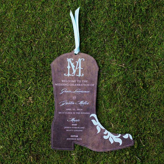 Awesome Then Be Sure That Your Wedding Programs Have Some Country Flair. | 24 Ways  To