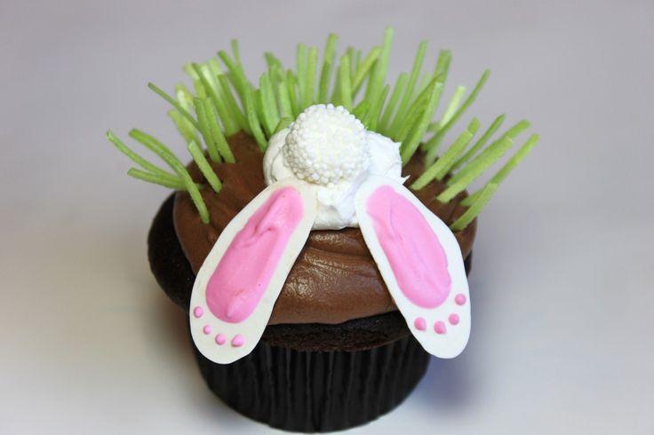 Shy bunny cupcakes