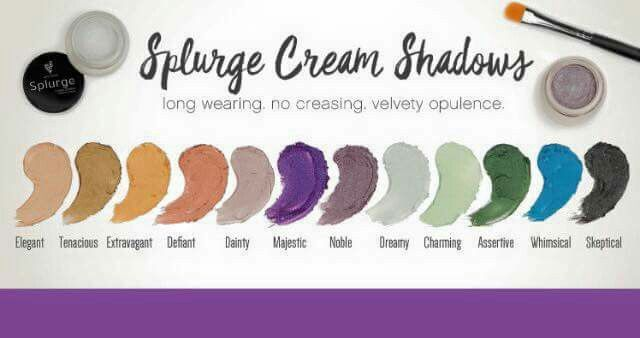 Splurge cream shadow 12 different shades #subtle #bold #colourful #gorgeous #longlasting www.youniqueproducts.com/christinatreadwell