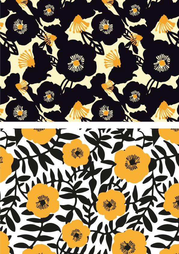 Patterns by sarah edith, via Behance