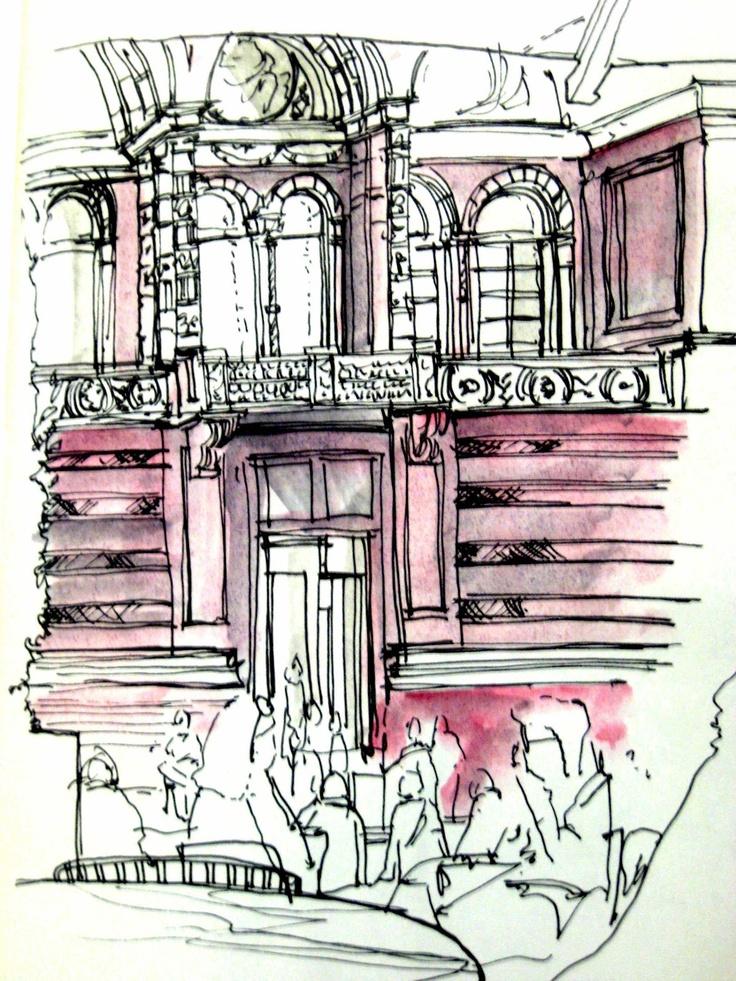 Urban Sketchers: Victoria & Albert Gallery London