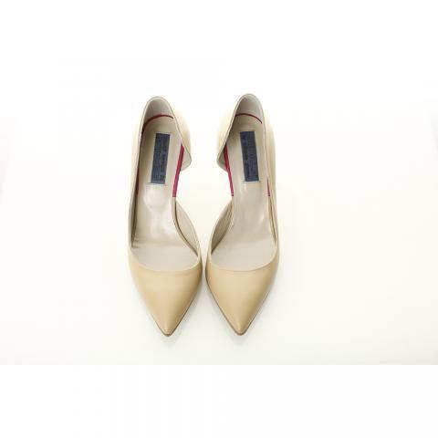 Pantofi toc mic nude | The Boutique
