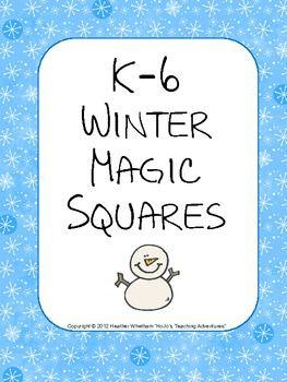 K-6 Winter Magic Squares FREEBIE