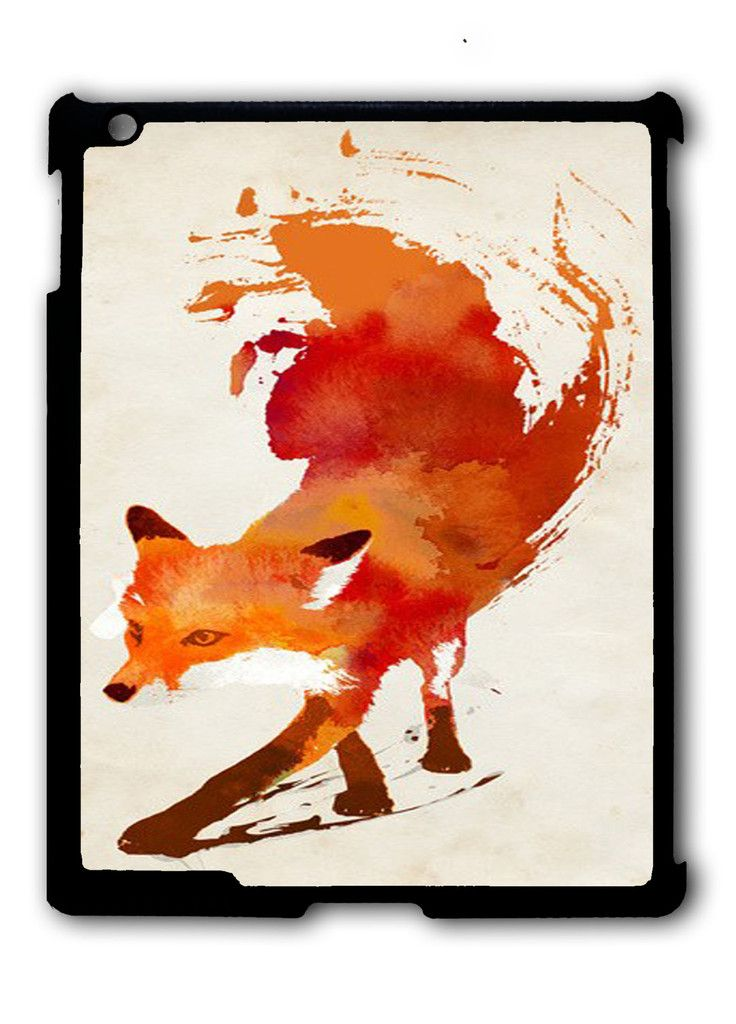 Fox Watercolor Painting iPad case, Available for iPad 2, iPad 3, iPad 4 , iPad mini and iPad Air