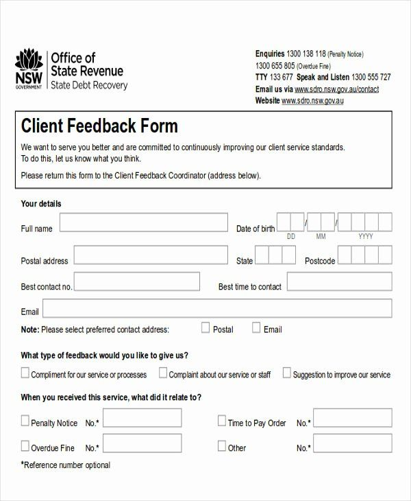 Customer Feedback Form Template In 2020 With Images Templates