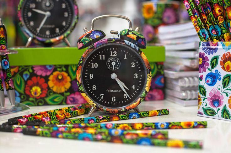 budzik, folkstar, folklor, folk, etno, polish, łowicz, design, ludowe, na ludowo, wnętrze, ołówek