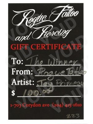 26 best tattoo gift card ideas images on Pinterest Graph design - copy custom gift certificates with stub