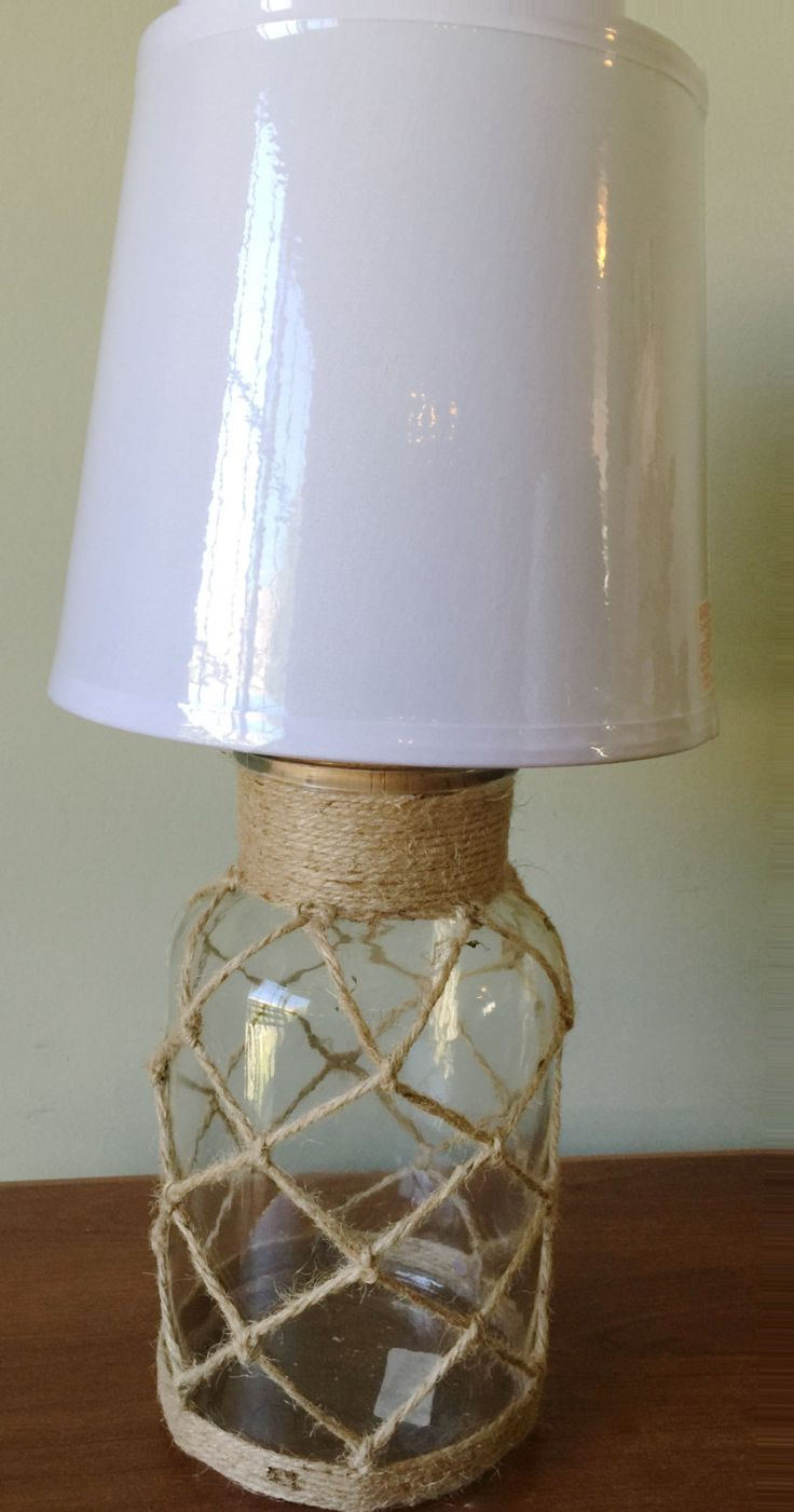 Small table lamps - Beach House Nautical Clear Glass Bottle Table Lamp Desk Lamp Glass Bottle Lamp Small Table Lamp Small Side Table Light