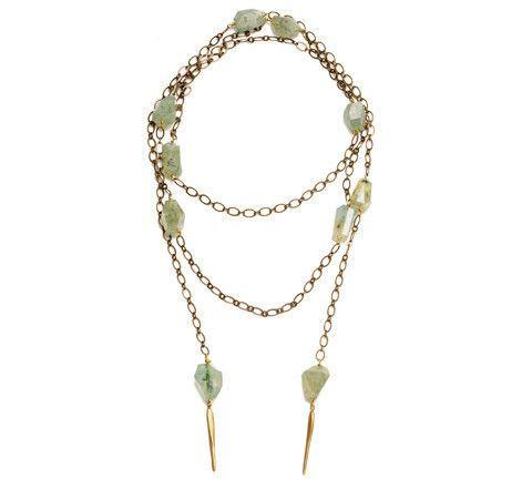 Crick & Watson - Daggers and Prehenite Necklace, Natalie Frigo, crick & watson