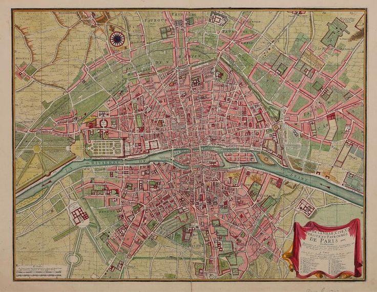 Plan de de la ville, cité, université, et faubourgs de Paris avec ses environs… Van Loon sculpt. Se vend à Paris, chez le Sr Jaillot, vers 1735, gravure sur cuivre aquarellée, 47 x 61 cm env.  Estimation : 500/700 € Lundi 18 septembre, salle 5 - 6  Drouot-Richelieu. Kâ-Mondo OVV.