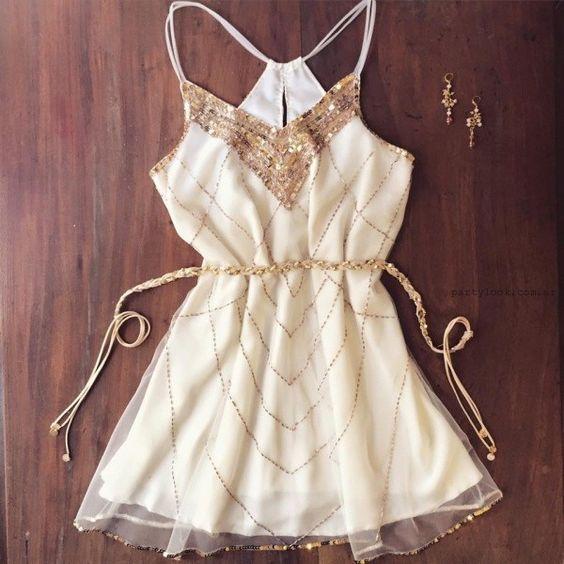 vestidos cortos bordados con lentejuelas verano 2016 Love Pajaro: