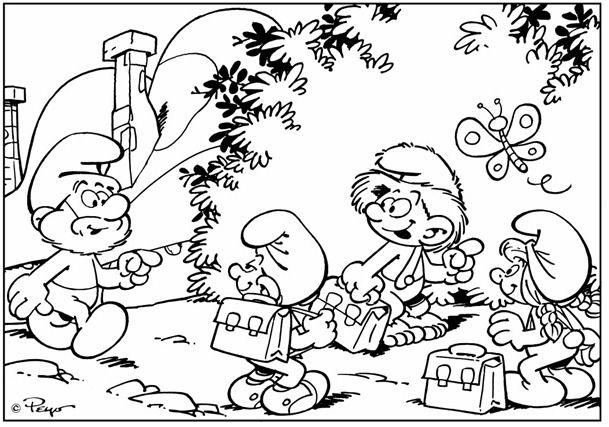 Os Smurfs Em Dez Imagens Para Colorir Smurfs Desenho Imagens