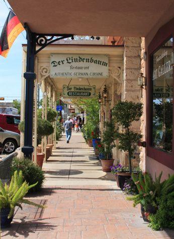 Main Street in Fredericksburg, TX~ Antique shopping, wine tasting, and German beer drinking during Oktoberfest. so fun.