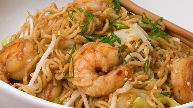 Don't go out for chow mein, make your own with this easy and tasty recipe for Spicy Shrimp Chow Mein. It'...