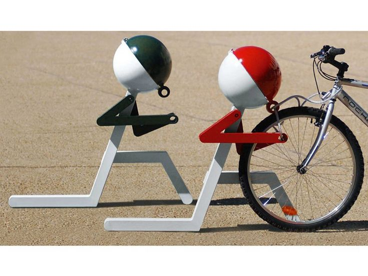 Porta-bicicletas em aço PIT-STOP by Metalco | design Architettura