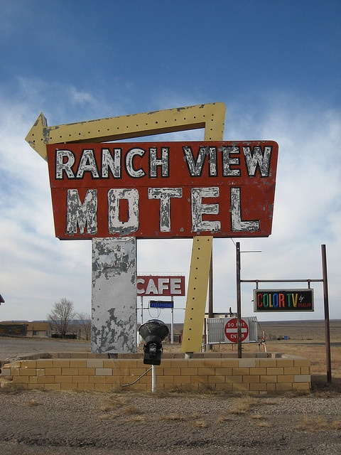Vintage Motel Sign Vaughn New Mexico By Amberpresley Via