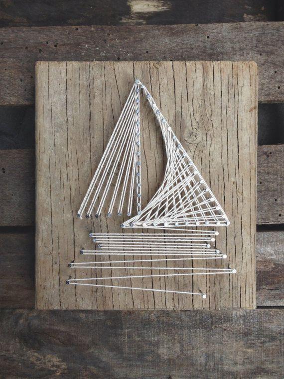 Sail Boat String Art by LittleLovelyLady on Etsy, $60.00