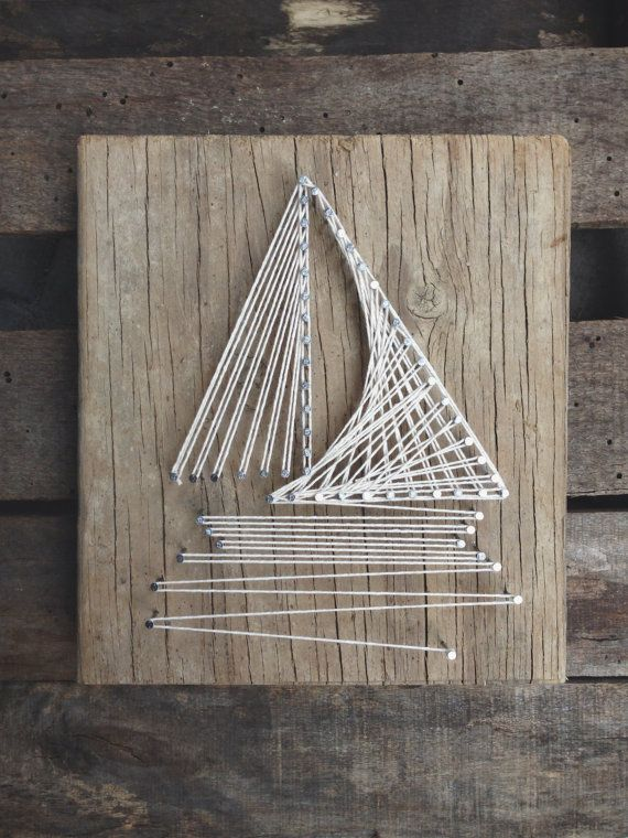 Sail Boat String Art by LittleLovelyLady on Etsy, $60.00