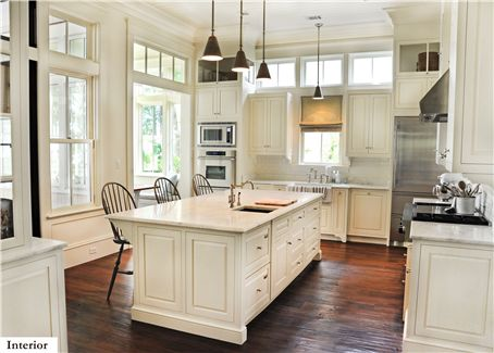 """Palmetto Bluff,"" Bluffton, SC. Architect/Designer: Hansen Architects P.C. Builder: JT Turner Construction. Developer: Crescent Resources.Transom Windows, Dreams Kitchens, Design Trends, Traditional Kitchens, Pantries Design, Cabinets Design, Open Kitchens, White Cabinets, White Kitchens"