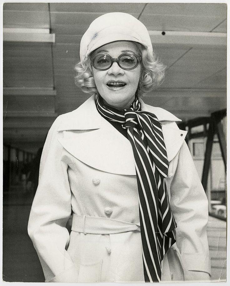 Marlene Dietrich Vintage 1973 Candid Airport Photograph