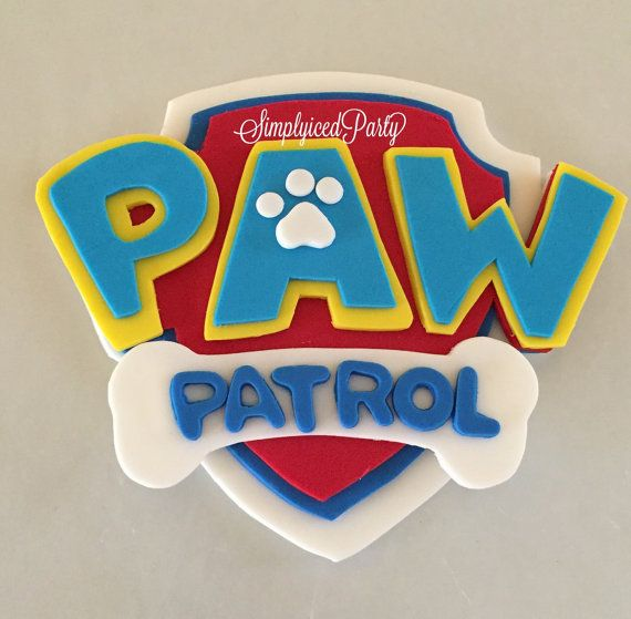 Paw Patrol Inspired Fondant cake topper ready by SimplyicedParty