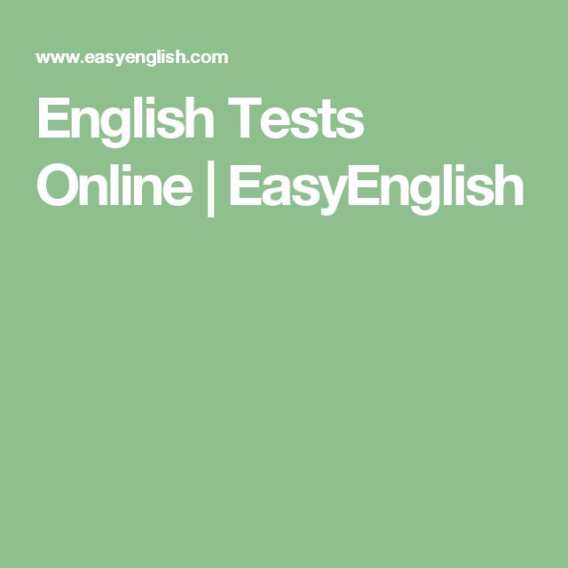 English Tests Online | EasyEnglish