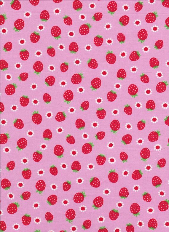 Lecien Tiny Prints 40192 20 strawberry's on by DonnasLavenderNest, $2.75