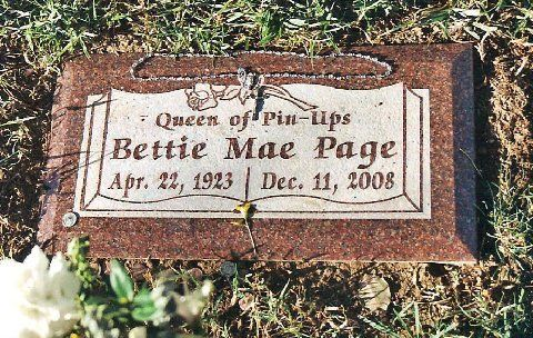 Grave marker of Bettie Page.