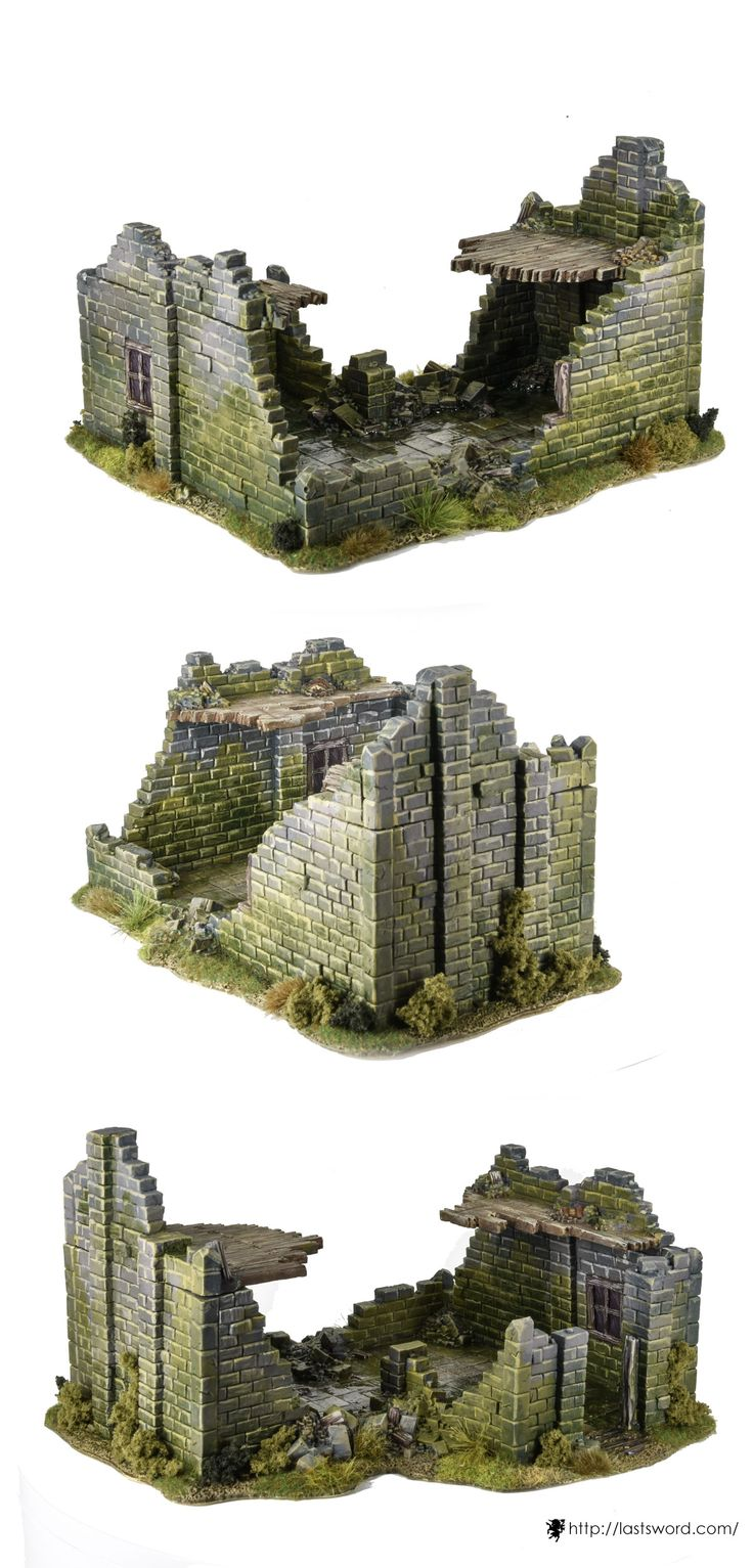 Big ruined house for Warhammer fantasy, Mordheim, Age of Sigmar, Kings of war, Frostgrave, and others wargames. Sculpte by Comi, painted by Asdarel.