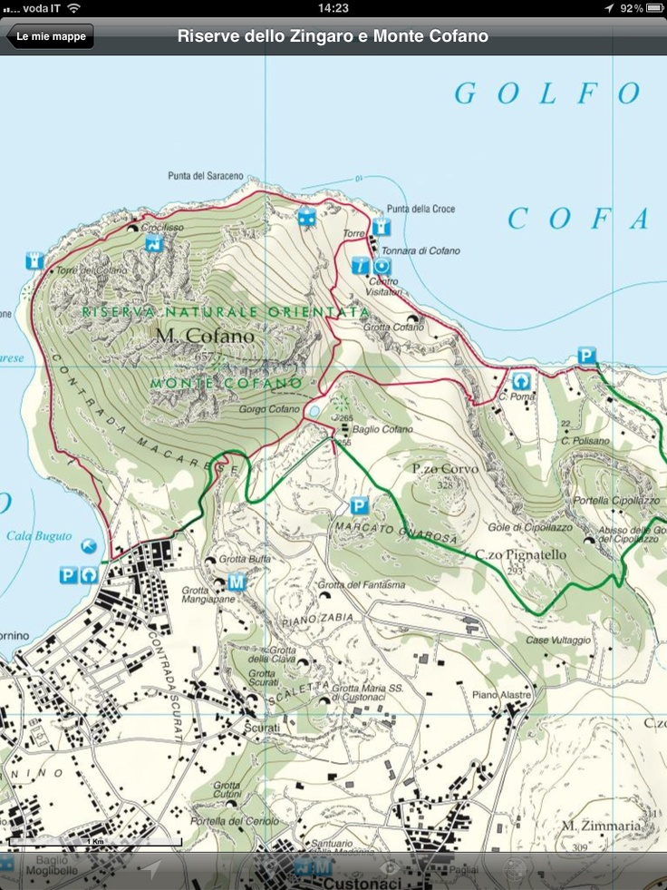 Zingaro and Monte Cofano Natural Reserves Hiking Trails Map now available via Mappe d'Italia. #Sicily