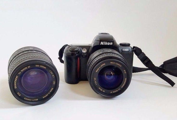 Nikon N65 35 M Camera - TWO Quantaray Lenses, 28-90mm, 100-300mm Untested  #Nikon