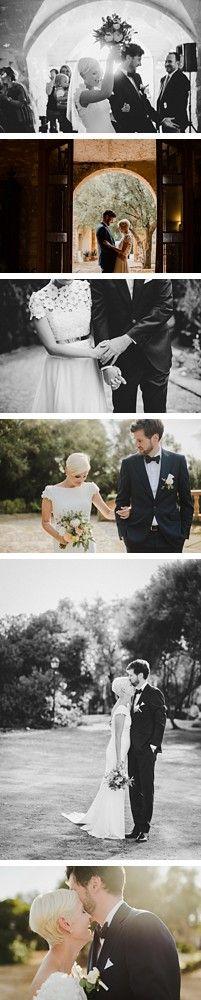 Rustic Destination wedding in Mallorca, Spain by Caroline Dyer-Smith, wedding planner Mallorca Boutique Weddings. Wedding dress - Kaviar Gauche.