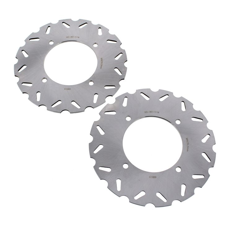 2010 Arctic Cat 450 H1 EFI Race-Driven Front RipTide Brake Rotors Brake Discs, Silver stainless steel