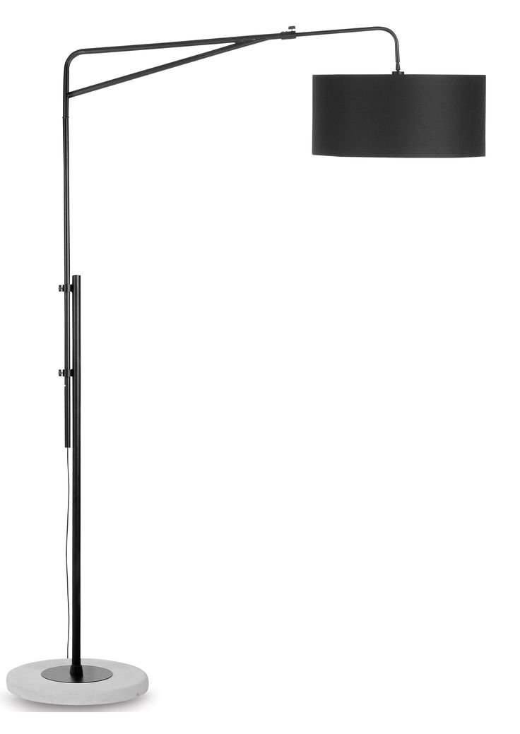 The modern Brighton Floor Lamp by It's about RoMi has a cool contemporary feel. The arc lamp has a tough industrial look through the winning combination of iron and concrete.