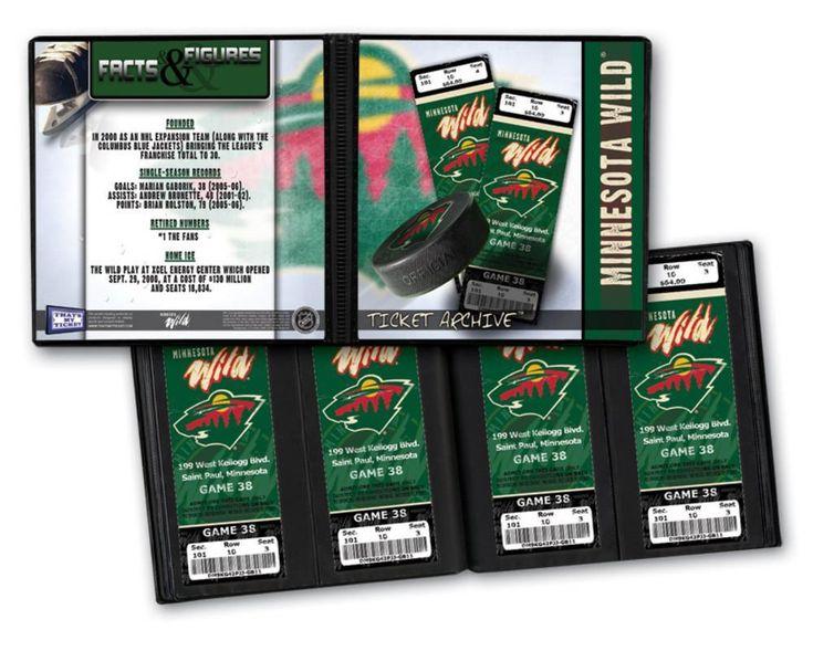 Ticket Album NHL - Minnesota Wild (Holds 96 Tickets)