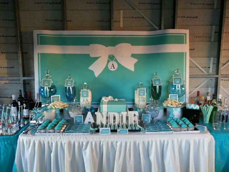 Tiffany Inspired Lolly Buffet For 21st Birthday Dessert