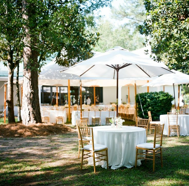 wedding reception at home ideas uk%0A White umbrellas out side tent